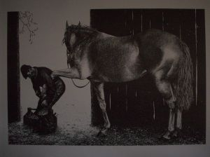 Farrier Pen & Ink Print