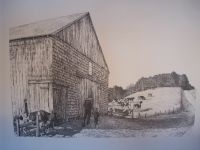 Webster Mills Rd Pen & Ink Print